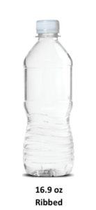 16.9 oz ribbed bottle