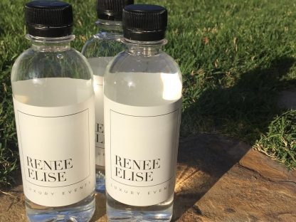 Personalized water bottles for luxury event