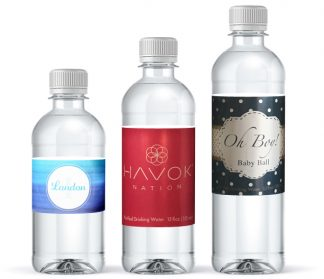 Water bottles with personalized labels