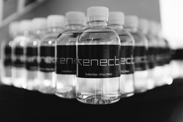 Business logo water bottles